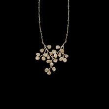 "Baby's Breath 16"" Adj. Sterling Silver Necklace 