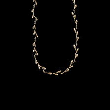 """Pussy Willow Delicate 16"""" Adjustable Sterling Silver Necklace   Michael Michaud   7612S   Nature Jewelry"""
