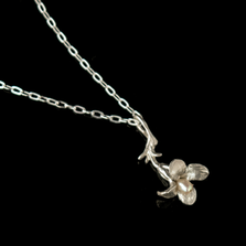 "Wildflower Dainty Sterling Silver 16"" Pendant Necklace 