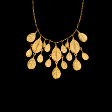 """Bahamian Bay Leaf Gold 16"""" Necklace   Michael Michaud   8983V   Nature Jewelry"""