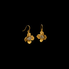 Dogwood Gold Wire Drop Earrings | Michael Michaud | 4749V | Nature Jewelry