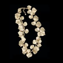 "Aspen Leaf Gold 16"" Adjustable Necklace   Michael Michaud   7860V   Nature Jewelry"