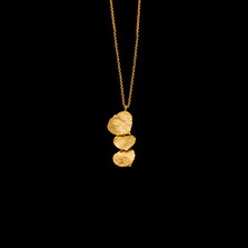 "Aspen Leaf 16"" Adjustable Gold Pendant Necklace 