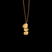 "Aspen Leaf 16"" Adjustable Gold Pendant Necklace   Michael Michaud   8931V   Nature Jewelry"