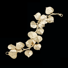 Aspen Leaf Gold Bracelet | Michael Michaud | 7117V | Nature Jewelry
