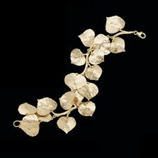 Aspen Leaf Gold Bracelet   Michael Michaud   7117V   Nature Jewelry