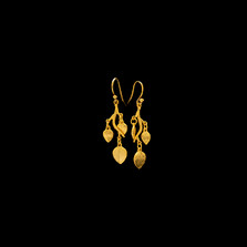 Eucalyptus Leaf Gold Wire Earrings | Michael Michaud | 4068V | Nature Jewelry