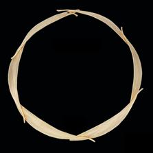 "Eucalyptus Leaf Gold 18"" Collar Necklace   Michael Michaud   7593V   Nature Jewelry"