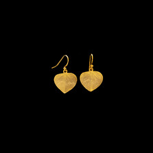 Eucalyptus Heart Leaf Gold Wire Earrings   Michael Michaud   4070V   Nature Jewelry