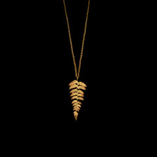 """Fern 30"""" Gold Adjustable Long Necklace   Michael Michaud   9075V   Nature Jewelry"""