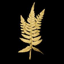 Fern Leaf Gold Pin | Michael Michaud | 5955V | Nature Jewelry