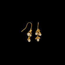 Boxwood Gold Drop Wire Earrings | Michael Michaud | 4247V | Nature Jewelry