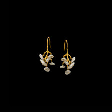 Lily of the Valley Gold Wire Drop Earrings | Michael Michaud | 4280V | Nature Jewelry