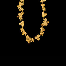 "Clover Leaf 16"" Adjustable Gold Necklace 