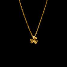 "Clover Leaf 16"" Petite Gold Pendant Necklace   Michael Michaud   7796V   Nature Jewelry"