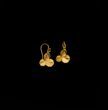 Clover 3 Leaf Gold Wire Drop Earrings   Michael Michaud   4845V   Nature Jewelry
