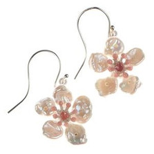 Cherry Blossom Wire Earrings | Michael Michaud Jewelry | SS4889BZWP -2