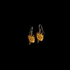 California Poppy Gold Wire Drop Earrings   Michael Michaud   4873V   Nature Jewelry