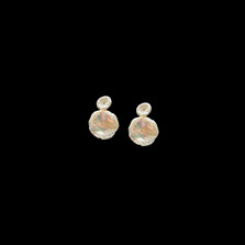 Silver Dollar Gold and Pearl Post Earrings | Michael Michaud | 4310V | Nature Jewelry