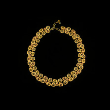 "Sea Urchin 16"" Adjustable Gold Collar Necklace 