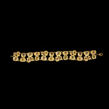 Sea Urchin Gold Gemstone Bracelet | Michael Michaud | 7155V | Nature Jewelry