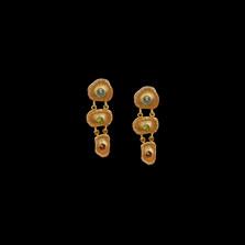 Sea Urchin Gold Gemstone Drop Earrings | Michael Michaud | 4638V | Nature Jewelry