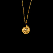 "Nautilus Shell 16"" Adjustable Gold Pendant Necklace 