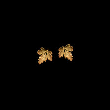 Parsley Leaf Gold Post Earrings | Michael Michaud | 3086V | Nature Jewelry
