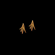 Rosemary Gold Post Earrings   Michael Michaud   Nature Jewelry   3084V