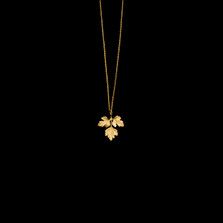 "Parsley Leaf Gold 16"" Adjustable Pendant Necklace 