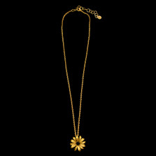 "Black-Eyed Susan 16"" Adjustable Dainty Pendant Necklace 