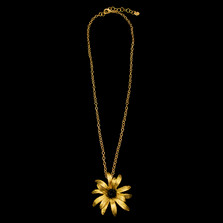 "Black-Eyed Susan 16"" Adjustable Pendant Necklace 