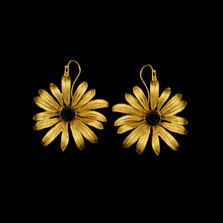 Black-Eyed Susan Wire Earrings | Michael Michaud | 3566BZ | Nature Jewelry