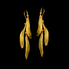 Black-Eyed Susan Petal Wire Earrings   Michael Michaud   3567BZ   Nature Jewelry