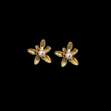 Flowering Thyme Stud Post Earrings | Michael Michaud | 3575BZ | Nature Jewelry