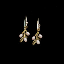 Flowering Thyme Dainty Wire Earrings | Michael Michaud | 3578BZ | Nature Jewelry