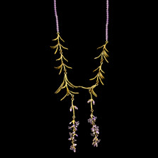 "Lavender 18"" Adjustable Beaded Necklace 