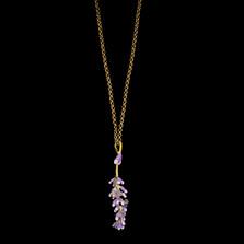 "Lavender 22"" Adjustable Pendant Necklace | Michael Michaud | 9320BZ | Nature Jewelry"