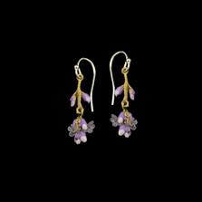 Lavender Dangle Wire Earrings | Michael Michaud | 3569BZ | Nature Jewelry
