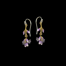 Lavender Dangle Wire Earrings | Michael Michaud | 3569BZ | Nature Jewelry