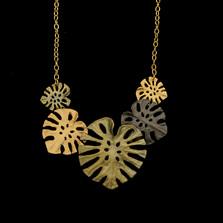 "Monstera Leaf 16"" Adjustable Necklace | Michael Michaud | 9329BZ | Nature Jewelry"