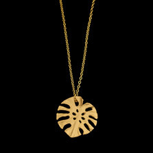 "Monstera Single Leaf 16"" Pendant Necklace 