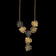 "Monstera Leaf 18"" Mini Statement Pendant Necklace   Michael Michaud   9332BZ   Nature Jewelry"