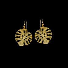 Monstera Leaf Wire Earrings | Michael Michaud | 3580BZ | Nature Jewelry