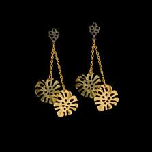 Monstera Leaf Dangle Post Earrings | Michael Michaud | 3581BZ | Nature Jewelry