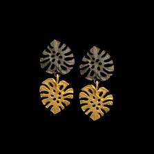 Monstera Leaf Dainty Post Earrings | Michael Michaud | 3582BZ | Nature Jewelry