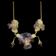 "Pansies 18"" Adjustable Statement Necklace | Michael Michaud | 9336BZ | Nature Jewelry"