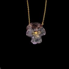 "Pansies 16"" Adjustable Pendant Necklace | Michael Michaud | 9337BZ | Nature Jewelry"