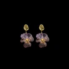 Pansies Post Earrings | Michael Michaud | 3587BZ | Nature Jewelry
