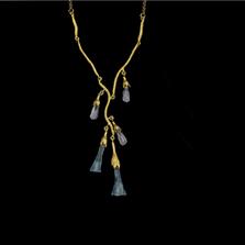"Virginia Bluebells 16"" Adjustable Mini Statement Necklace | Michael Michaud | 9333BZ | Nature Jewelry"